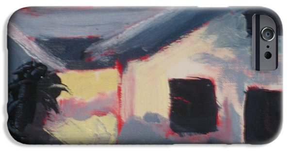 White House Pastels iPhone Cases - Los Poblanos House iPhone Case by Constance Gehring