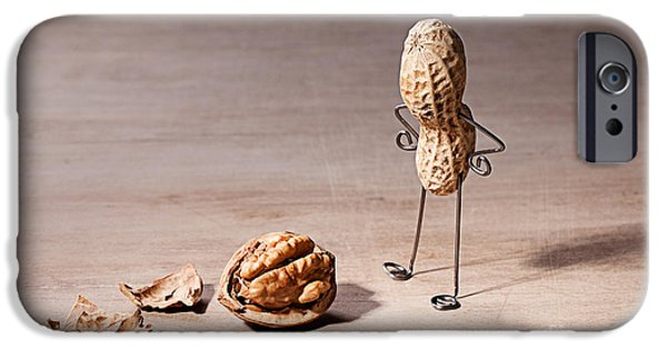 Nuts iPhone Cases - Lost Brains 01 iPhone Case by Nailia Schwarz