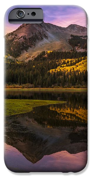 Drama iPhone Cases - Lost in the Sunrise iPhone Case by Phillip Noll Raven Mountain Images