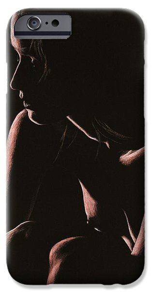 Female Pastels iPhone Cases - Lost iPhone Case by Richard Young