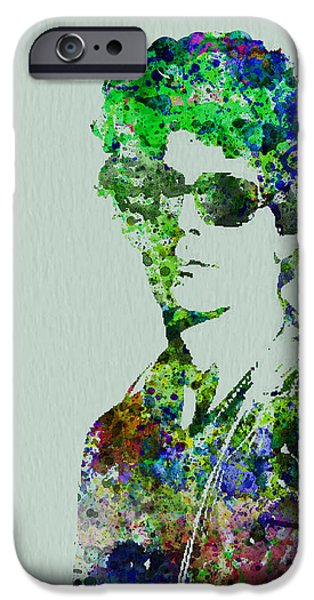 Band Paintings iPhone Cases - Lou Reed iPhone Case by Naxart Studio