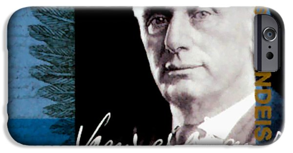Constitution iPhone Cases - Louis D Brandeis iPhone Case by Lanjee Chee