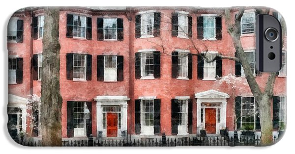 Recently Sold -  - Boston iPhone Cases - Louisburg Square Beacon Hill Boston iPhone Case by Edward Fielding
