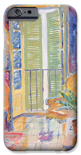 French Doors iPhone Cases - Louise iPhone Case by William Ireland