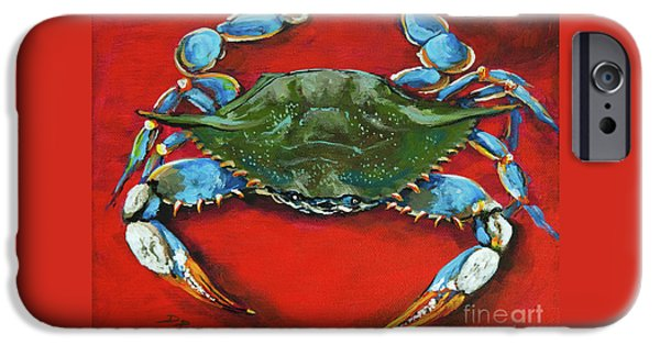 Artist iPhone Cases - Louisiana Blue on Red iPhone Case by Dianne Parks