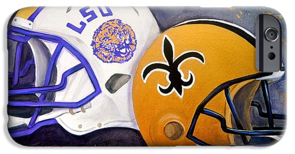 Louisiana State University iPhone Cases - Louisiana Fan iPhone Case by Debi Starr