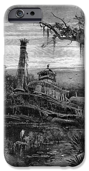 LOUISIANA: STEAMBOAT WRECK iPhone Case by Granger