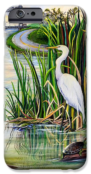 Rural iPhone Cases - Louisiana Wetlands iPhone Case by Elaine Hodges