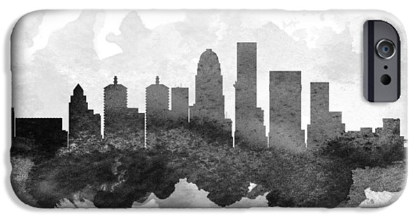 Louisville iPhone Cases - Louisville Cityscape 11 iPhone Case by Aged Pixel
