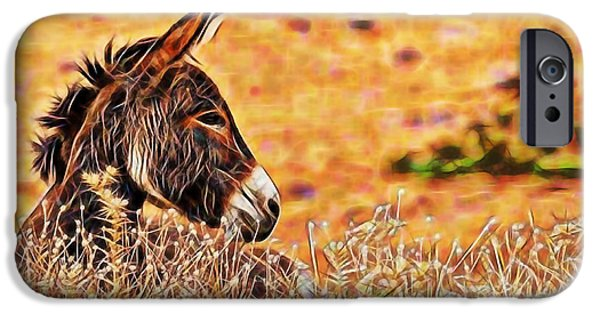 Donkey iPhone Cases - Lounging iPhone Case by Marvin Blaine