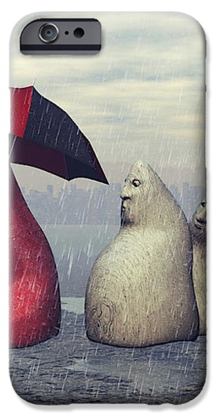 Lousy Weather iPhone Case by Jutta Maria Pusl