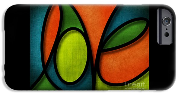 Abstracts iPhone Cases - Love - Abstract iPhone Case by Shevon Johnson