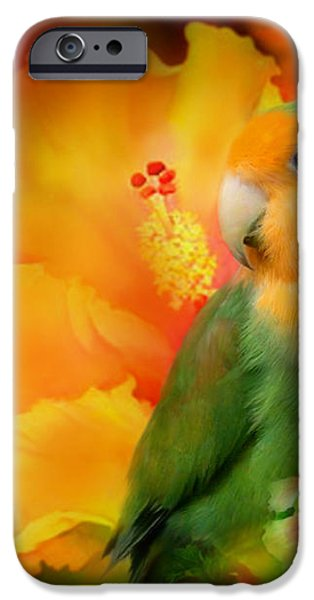 Love Among The Hibiscus iPhone Case by Carol Cavalaris