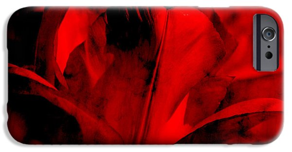 Flora Mixed Media iPhone Cases - Love iPhone Case by Angela Doelling AD DESIGN Photo and PhotoArt