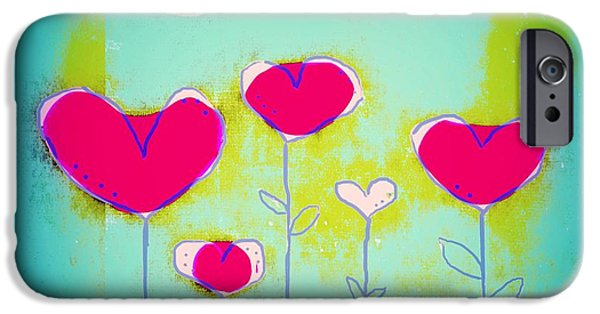 Fushia iPhone Cases - Love Art - 144a iPhone Case by Variance Collections
