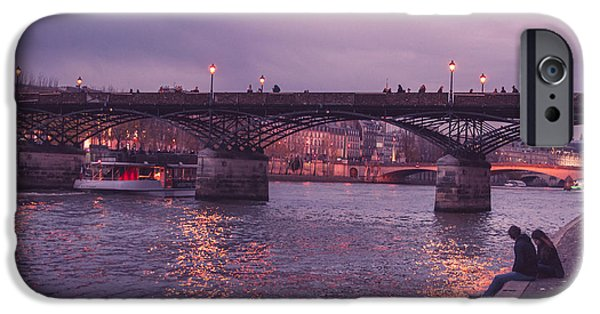 Couple iPhone Cases - Love At Pont Neuf iPhone Case by Marcus Karlsson Sall