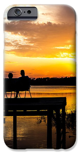 Couple iPhone Cases - Love at Sunset iPhone Case by Shelby  Young
