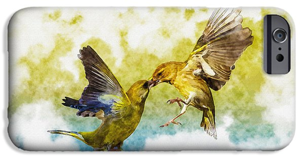 Tree Art Print iPhone Cases - Love Birds iPhone Case by Don Kuing