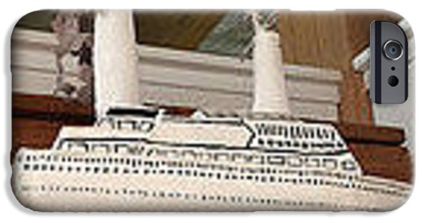 Boat Sculptures iPhone Cases - Love Boat iPhone Case by William Douglas