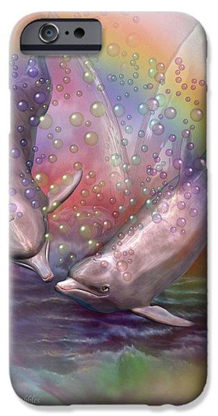 Love Bubbles iPhone Case by Carol Cavalaris