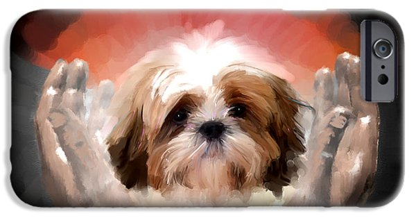 Dogs iPhone Cases - Love calls iPhone Case by Richard Okun