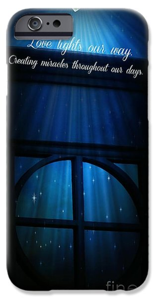 Miracle iPhone Cases - Love Lights Our Way iPhone Case by Bobbee Rickard