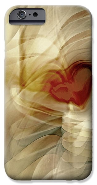 Energy Art Movement iPhone Cases - Love  iPhone Case by Linda Sannuti
