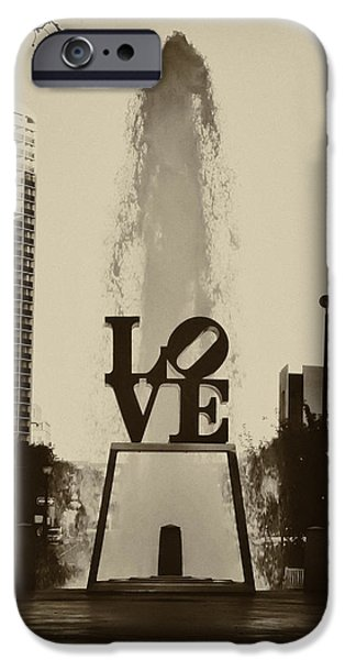 Phillies Digital iPhone Cases - Love Love Love iPhone Case by Bill Cannon