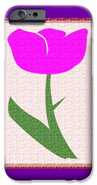 Christmas Greeting iPhone Cases - Love n Romance Pink Flower Presentation for Sweet Heart Soul Mate by NavinJoshi at FineArtAmerica.co iPhone Case by Navin Joshi