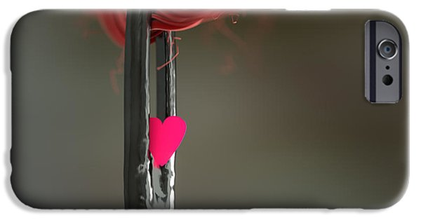 Paper Sculptures iPhone Cases - Love through the Eye of a needle iPhone Case by Richard Seanor