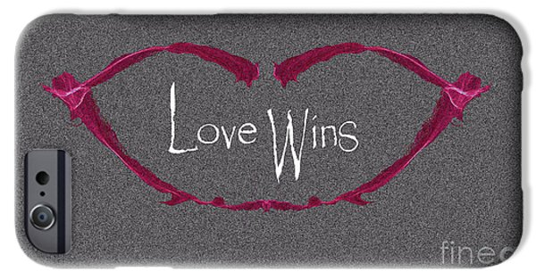Lips iPhone Cases - Love Wins iPhone Case by Charlie Cliques
