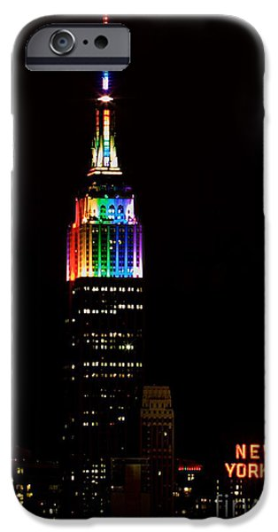 Empire State iPhone Cases - Love Wins iPhone Case by Mingtaphotography