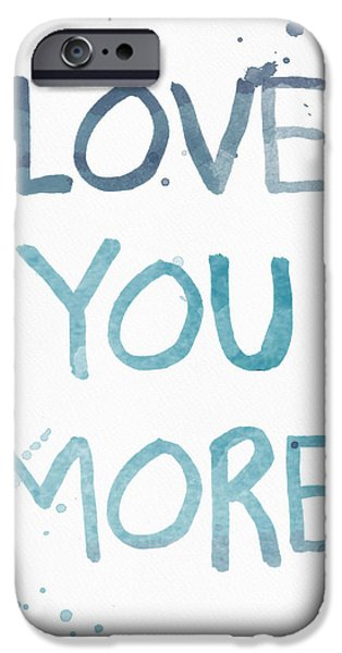 Wedding iPhone Cases - Love You More- watercolor art iPhone Case by Linda Woods
