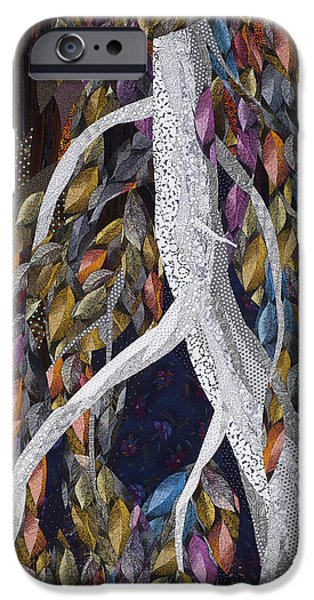 Evening Tapestries - Textiles iPhone Cases - Lovely Dark and Deep iPhone Case by Linda Beach