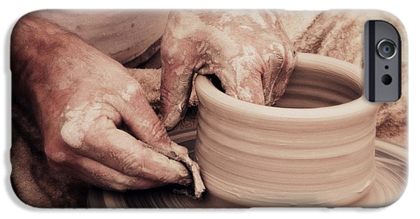 Master Potter iPhone Cases - Loving hands creation iPhone Case by Emanuel Tanjala