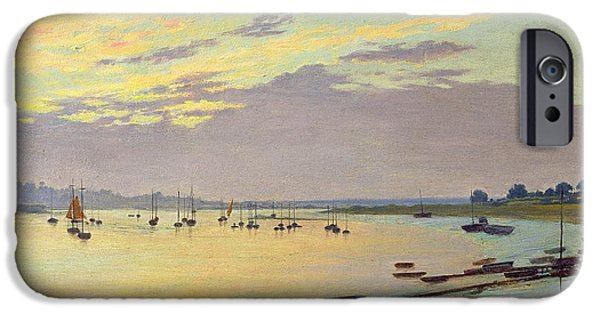 Seascapes iPhone Cases - Low Tide iPhone Case by W Savage Cooper