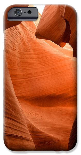 Slickrock iPhone Cases - Lower Antelope Canyon 7 iPhone Case by Craig Ratcliffe