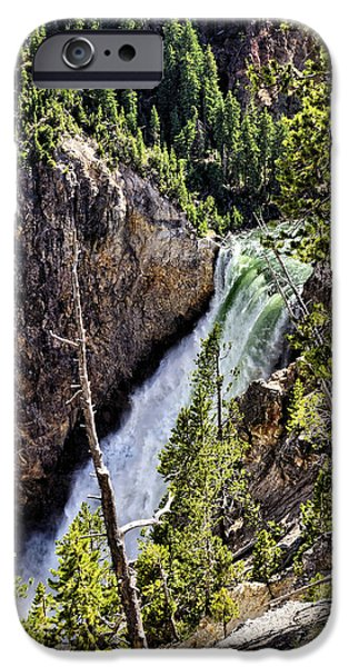 Forest iPhone Cases - Lower Falls 2 iPhone Case by John Trommer