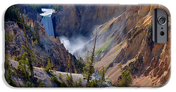 Yellowstone National Park iPhone Cases - Lower Yellowstone Falls iPhone Case by Idaho Scenic Images Linda Lantzy