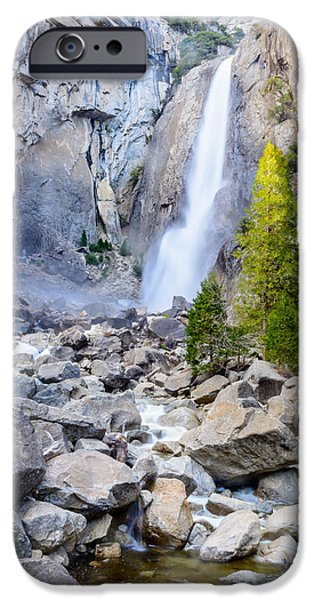 Fall iPhone Cases - Lower Yosemite Falls iPhone Case by Cristi Canepa