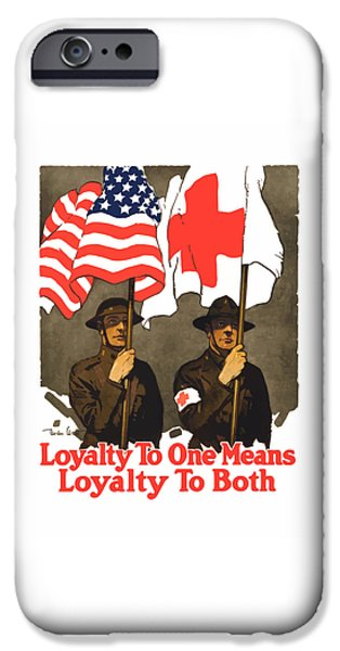 One Mixed Media iPhone Cases - Loyalty To One Means Loyalty To Both iPhone Case by War Is Hell Store