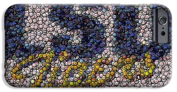 Bottlecaps iPhone Cases - LSU Bottle Cap Mosaic iPhone Case by Paul Van Scott