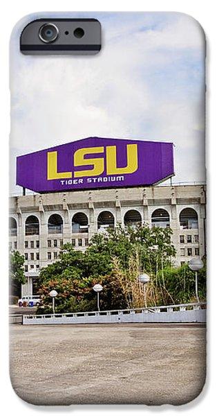 LSU Tiger Stadium iPhone Case by Scott Pellegrin