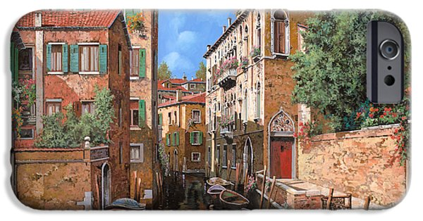Boat iPhone Cases - Luci A Venezia iPhone Case by Guido Borelli