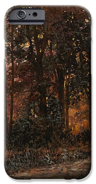 luci nel bosco iPhone Case by Guido Borelli
