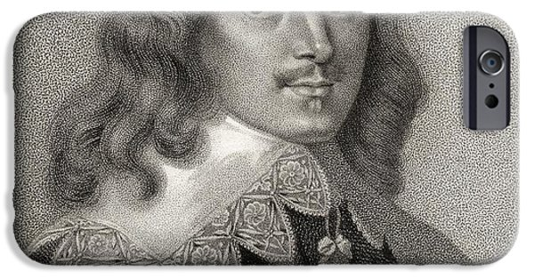 Politician iPhone Cases - Lucius Cary 2nd Viscount Falkland 1610 iPhone Case by Ken Welsh