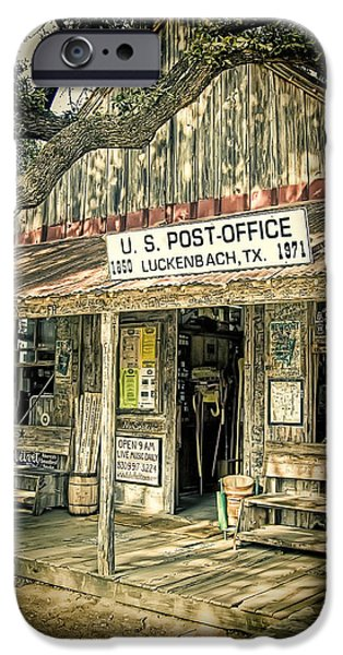 Country Store iPhone Cases - Luckenbach TX iPhone Case by Scott Norris