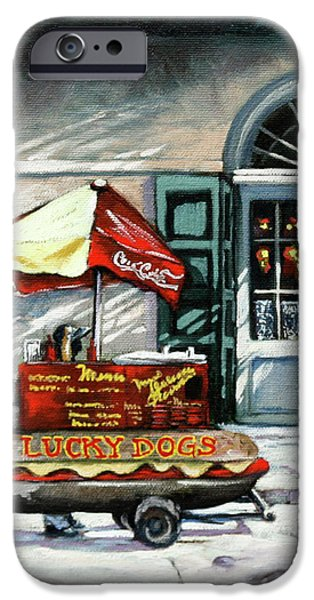 Lucky Dogs iPhone Case by Dianne Parks