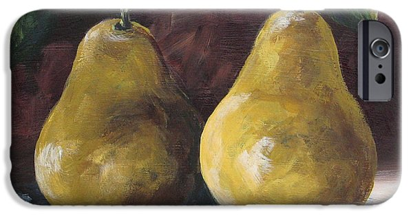Pears iPhone Cases - Lucky Pears iPhone Case by Torrie Smiley