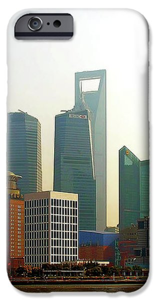 Lujiazui - Pudong Shanghai iPhone Case by Christine Till